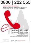 Frauenhelpline 0800 222 555 - Plakat
